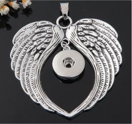Anges ailes à vendre-nouvelle arrivée ange chaud snap aile pendentif bouton bijoux pour 18mm bouton 10pcs / lot interchangeables 18mmNecklace DIY accessoires jelwery