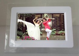 Wholesale 7 inch HD LCD Screen Desktop Digital Photo Frame Calendar Digital Picture Display Frame with Calendar Support Tf Sd Flash Drives