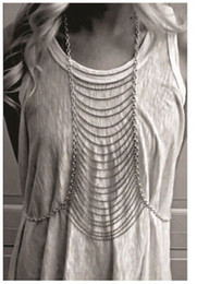 1PC Sexy Body Chain Street Major Suit Silver Gold Tassel Body Chain Necklace Multi-layer Bodychain 3 Style