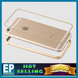Wholesale For Iphone6 case iphone6 plus cases Metal frame PC back cover Curved Aluminum Metal Bumper Case Side Bumper with Button Ultrathin LOVE MEI