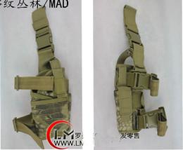 Wholesale Tactical Rattlesnake Mandrake Outdoor Hunting Puttee Thigh Leg Pistol Gun Holster Pouch Bag Wrap around for CS war game
