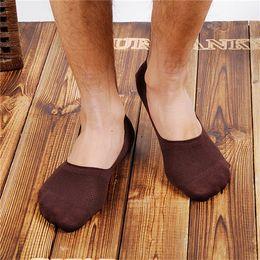 New High Qualtiy Summer Men's Invisible Socks Net Loafer Boat Anti Slip Socks 10 Pairs Lot Free Shiping