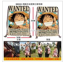 Wholesale Anime One Piece Luffy Print Drawstring Backpack Bag Animation design bag Sz x cm