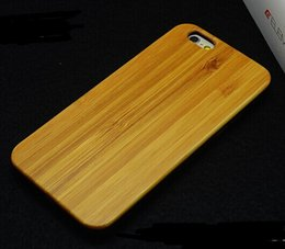 Wholesale Natural wood black plastic PC mobile phone cases for iphone inch in iphone6 plus real Solid Natural Bamboo Wood Wooden Cherry