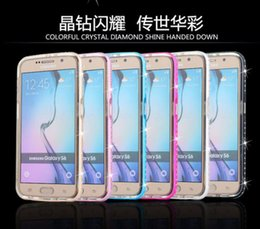 Wholesale Diamond Crystal Bling Metal Aluminum Bumper Case Cover for S plus SamsungS6 S6edge note4 Without Retail Package