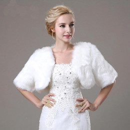 High Quality 2015 Cheap Autumn Winter Wedding Coat Bolero Bridal Wraps Jacket Warm Faux Fur Wedding Shawl Free Shipping MYF155