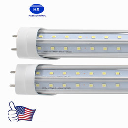 Wholesale V-shaped led tubes lights 4ft 5ft 6ft 8ft t8 g13 double lines led light tubes for cooler lighting AC 85-265V UL DLC