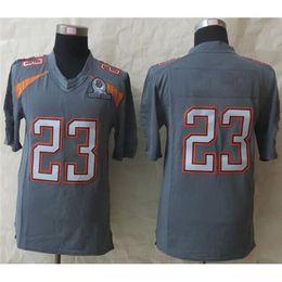 Wholesale 2015 New Pro Bowl Grey Elite Jersey Mens All Star American Football Jerseys Highest Quality Cheapest Football Uniform Brand Sportswear