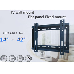 Wholesale New HDTV Wall Mount TV Flat Panel Fixed Mount Flat Screen Bracket with VESA Compatibilityfor quot quot Screen LCD LED Plasma TV