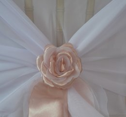 Wholesale 2015 Beautiful Custom Made Hand Made D Rose Flowers For Chair Sashes Chair Covers Wedding Decorations