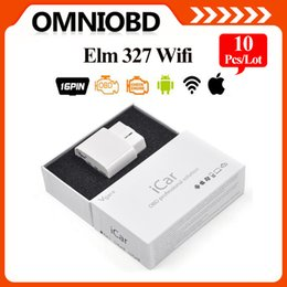 Wholesale 10 A Quality ELM327 wifi Original Vgate iCar elm327 WIFI OBDII OBD2 diagnosticfor iPhone IOS Android PC iPad DHL FreeShipping