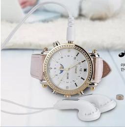 Caméras pour les filles en Ligne-Date Fille Femmes Lady Montre 8Go HD SPY WATCH avec MP3 caméra cachée Waterproof Wristwatch Mini DV DVR ultra-mince Regarder Cam