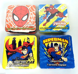 4 New cartoon compressed magic towel for gift.