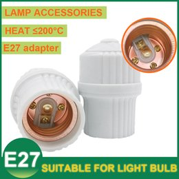 Wholesale LED Pendant Lamp Light E27 Socket Screw Converter Adapter LED Bulbs Holder Base Lamp Holder Hanging Suspension Porcelain White