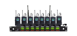 Free shipping OK-8 1B professional Eight channels wireless microphone system 8 channels multichannel Bodypack microphone Lapel Lavalier mic