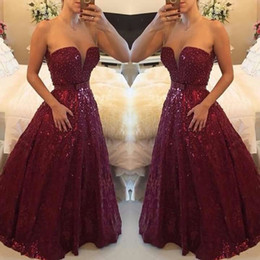 2019 Burgundy Formal Lace Prom Dresses Sweetheart A Line Floor Length Custom Made Long Evening Gowns Custom Made Occasion Dresses