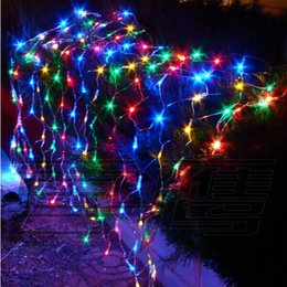 Wholesale V m L Led net lights string light Chrismas decoration with plug connector with model control