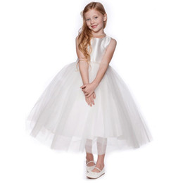 Simple Flower Girls's Dresses Long Formal Girl Pageant Gowns Custom Made Wedding Party Dress with Beading Belt