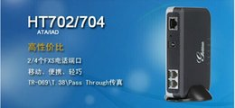 Wholesale DHL EMS shipping Analog FXS Adapter HT704 Grandstream HT704 ATA voip adapter SIP Voip gateway with FXS ports