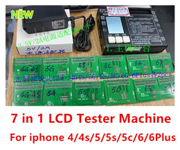 Wholesale 7 in LCD Display with Touch Screen Digitizer Tester Board testing frame with display For iphone S g s c Plus good price