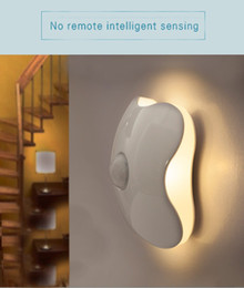 Wholesale Motion Sensor Light Led Motion activated wireless Nightlight Clover Style Night Lamp Wall Light Stick on Anywhere with battery operated Wa