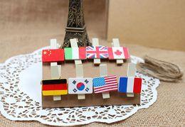 Wholesale New cute wooden Cartoon boys girls frog clip set paper clip Fashio