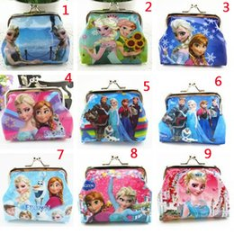 Frozen Girls 3D Cartoon Coin Purse Snow Queen Wallet Chilldren Princess Elsa Anna Money Bag Party Supplies Christmas Gift Children's Purse