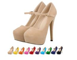 2016 New fashion wedding party women suede high heels 14CM platform stilettos ladies sexy pumps