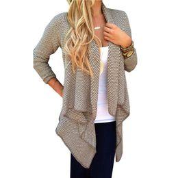 Wholesale Hot Salw Best seller Autumn Winter Fashion Womens Women Warm Cardigan Jacket Coat Outwear Tops