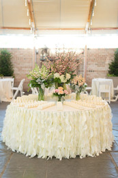 Discount ruffles cakes - Ruffles Chair Sashes Custom Made High Quality Wedding Decorations Wedding Suppliers Free Shipping 2016 Spring Factory Christmas Decoration