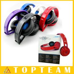 Rue sms via un casque d'oreille à vendre-SMS Audio SYNC Wired STREET Par 50 Cent Casque Noir Blanc Bleu Over-Ear Casques Casque D'écoute Gratuit DHL