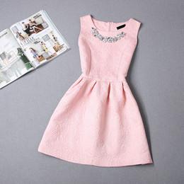 Wholesale-2016 Fashion women dress sleeveless vintage summer dress new arrival party dresses hot sale print dresses vestidos
