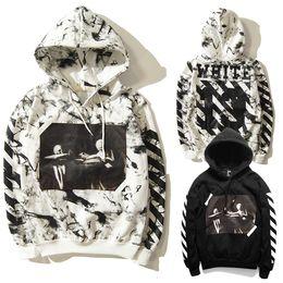 Wholesale-2015 Winter OFF WHITE 13 Jesus Skull Hoodies Men Couples Hip Hop Street God Print Sweatshirt Men Outdoor Sport Rocky Hoodie