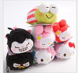 Wholesale TSUM TSUM plush Toys cartoon Anime Mobile Screen Cleaner Key Chain Bag Hanger for Mobile Phone Ipad
