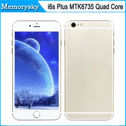 Wholesale 5 inch Goophone i6s Plus MTK6735 Quad Core Real LTE G Real Fingerprint Camera Show G GB Smart Phone the newest