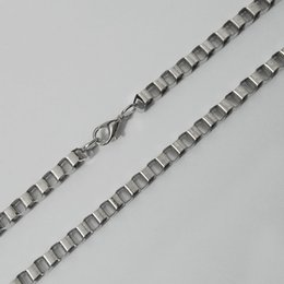 90 cm Rhodium plate 10pcs lot snake link box Chain with lobster claw clasps venice boxer hip hop mesh hollow Necklace jewelry making