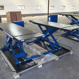 3 T Movable Mid-rise Scissor Lift Hydraulic Type Car Repair Assistive Tools With Standard CE