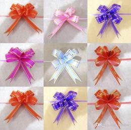 Tirez Bows Rubans Fleurs artificielles Emballage cadeau Wedding Party de Noël Décoration Pullbows 1.8 * 35cm Mariage 2015 Nouveau à partir de arcs décorations mariage fabricateur