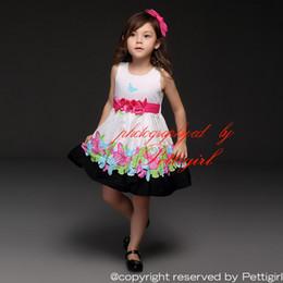 Pettigirl Children Clothes Desgin Cotton Summer Girls Dress Flower Belt Froal Printing Unique Kids Clothes GD21008-46B
