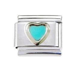 Wholesale girls mm classic enamel heart love Italian charm bracelet stainless steel modular charms link fits Nomination