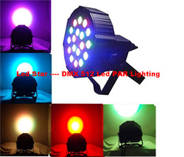 Wholesale 54W X3W Led Par Lights RGB Stage Lighting DMX512 Led Lights For Party KTV Disco DJ Lighting AC V