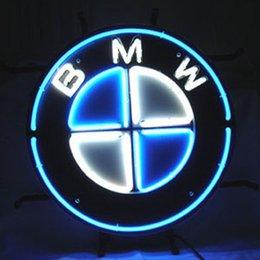 Wholesale 17 quot x14 quot BMW German Auto Car Store Dealer design Real Glass Neon Light Signs Bar Pub Restaurant Billiards Shops Display Signboards