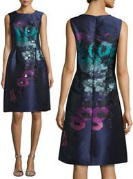 Luxury Print Women Sheath Dress Fashion Beaded Sleeveless Dresses 151015107