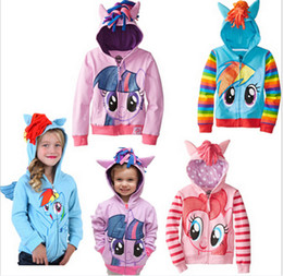 Wholesale My little pony zipper Hoodies Little Pony Outwear Coats Cartoon children outerwear My little pony kids hoody Jacket DDD2680