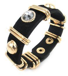 Free Shipping Hot Sell real Leather leopard rhinestone Wrap Bracelet for Women Bracelet