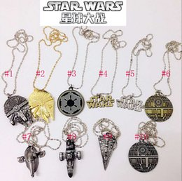 Wholesale Hot Movie Star Wars Force Awakening necklace new Star Wars necklaces Airship key ring Keychain necklace