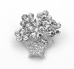 Wholesale Beautiful Small Size Silver Gold Plated Rhinestone Crystal Fashion Brooches and Pins Gift Fashion accessories