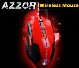 Wholesale Azzor USB Laser Computer Gaming Wireless Mouse For PC Laptop Built in Rechargeable Battery With Charging Cable