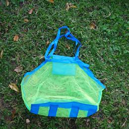 Venta al por mayor Blanks malla bolsa de la bolsa de ropa juguetes llevar toda la arena lejos bolsa de playa portátil caja DOM103271 desde la bolsa de asas de transporte al por mayor proveedores