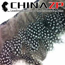 CHINAZP Crafts Factory Wholesale 10yards lot Cheap Unique Natural Guinea Polka Dot Hen Plumage Feather Trim